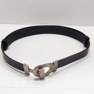 Chicos Leather Adjustable Belt Toggle Buckle